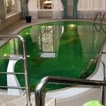 Зеленеет вода в бассейне
