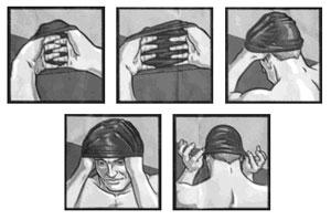 Как правильно надевать шапочку для бассейна